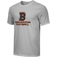Beaverton Youth Football 07: Adult-Size - Nike Combed Cotton Core Crew T-Shirt with Beaverton Logo on Front, Quote on Back