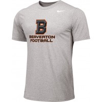 Beaverton Youth Football 01: Adult-Size - Nike Team Legend Short-Sleeve Crew T-Shirt with Beaverton Logo on Front, Quote on Back
